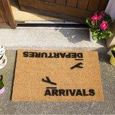 Arrivals And Departures Airport Novelty Coir Doormat