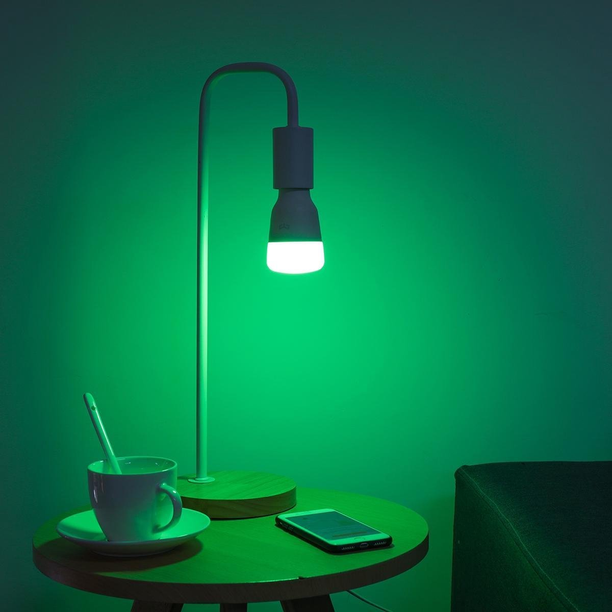 2 STKS Yeelight YLDP06YL E27 10 W RGBW Smart LED Lamp Werk Met Amazon Alexa AC100-240V (Xiaomi Ecosysteem Product)