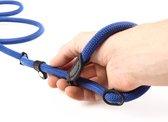 Pets&Partner® - Retrieverlijn voor hond - Halsband en lijn - Blauw