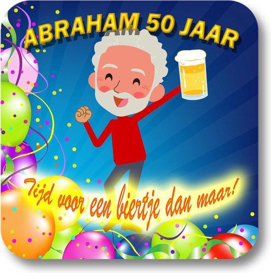 Nieuw bol.com | Onderzetters - Abraham 50 jaar - 12 stuks PB-96