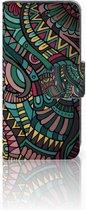 Samsung Galaxy S4 Mini i9190 Wallet Book Case Hoesje Design Aztec