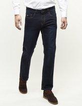 247 Jeans Palm S05  Stretch Spijkerbroek darkblue geschuurd L30-W33