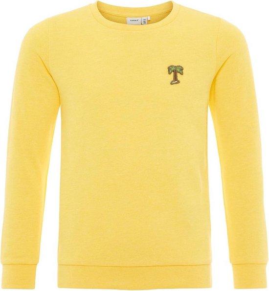 Gele katoenmix sweater meisjes | Goedkope sweaters.nl