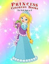 Princess Coloring Books For Kids Ages 4-8