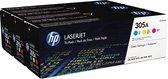 HP 305A 3 stuk(s) Origineel Cyaan, Magenta, Geel