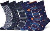 Sokken Heren 43 46 Blauwe/Gekleurde Herensokken Multipack Heren Maat 43-46