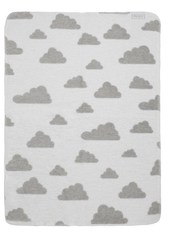 Meyco Modern Little Clouds - Ledikantdeken - 120 x 150 cm - Grijs