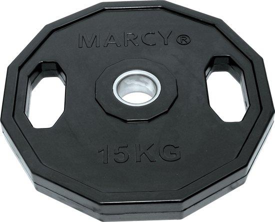 Tunturi Olympische Halterschijf - Halter gewichten - 1x 15 kg - 50mm - Rubber