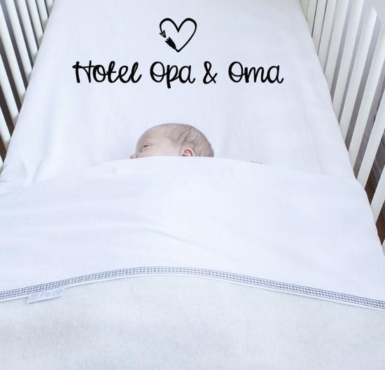 Hotel opa & oma ledikant hoeslaken - Beddengoed - Cadeau opa en oma