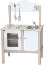 Houten speelgoed Keuken blank/zilver Simply