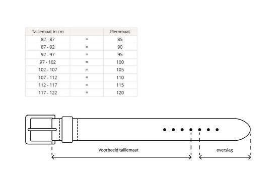 2 Lederen Herenriemen - Bruin en Zwart - 125 cm - Merkloos