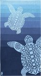 Seahorse Turtle Strandlaken - 100x180 cm - Blue