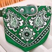 Bandana halsband voor huisdieren (groen)