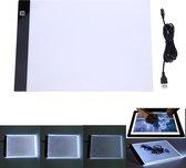 LED Lightpad A4 Voor Tekenen Diamond Painting - Lichtbak Lichtbox Lichtbord Dimbaar 3 Standen