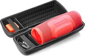 JBL case - Speakerhoes voor de Charge 4 | Beschermhoes voor de JBL charge 4 | Met Ruimte voor de JBL Charge 4 Accessoires | JBl Charge Hardcase - Zwart