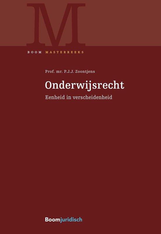 Boek cover Boom Masterreeks  -   Onderwijsrecht van P.J.J. Zoontjens (Hardcover)
