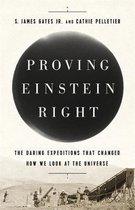 Boek cover Proving Einstein Right van Cathie Pelletier