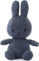 Corduroy nijntje knuffel blauw - 24 cm