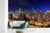 Fotobehang vinyl - Prachtige afbeelding van Manila in de nacht breedte 540 cm x hoogte 360 cm - Foto print op behang (in 7 formaten beschikbaar)