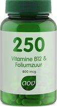 AOV 250 Vitamine B12 & Foliumzuur 800 mcg Voedingssupplementen - 60 vegacaps