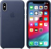 Apple Leather Backcover iPhone X / Xs hoesje - Donkerblauw