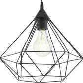 EGLO Vintage Tarbes Hanglamp - Draadlamp - 1 Lichts - Ø325mm. - Zwart