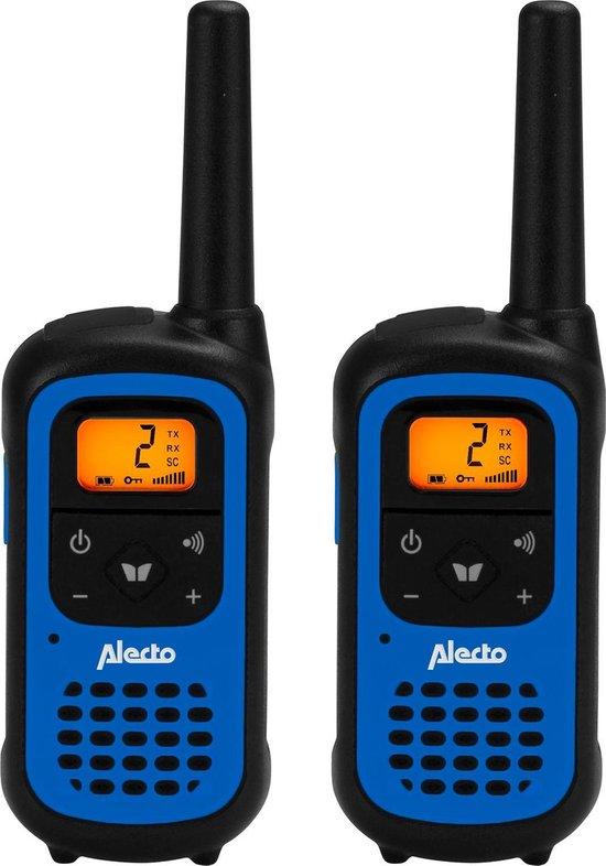 Alecto FR-100 Walkie Talkie 7 km - 16 Kanalen, Verlicht display, Compact formaat - Zwart / Blauw