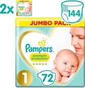 Pampers Premium Protection Luiers - Maat 1 (2-5 kg) - 144 stuks - Maandbox