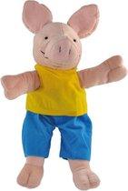 Kikker handpop 40 cm varken - dieren - knuffel - poppenkast -