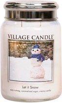 Village Candle Large Jar Geurkaars - Let it Snow