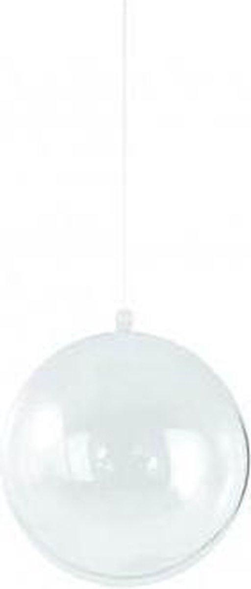 Rayher DIY kerstbal - Transparant - Kunststof -   14cm
