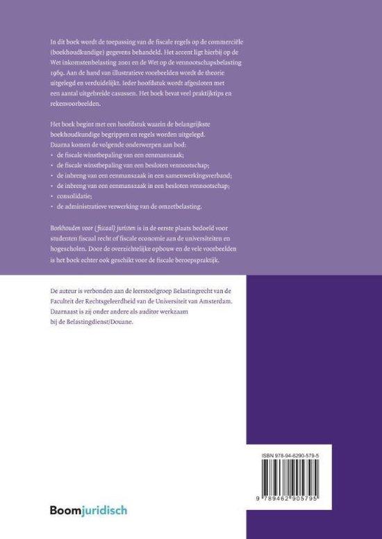 Boom fiscale studieboeken  -   Boekhouden voor (fiscaal) juristen - Margreet Nijholt