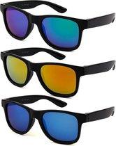 Kinder Wayfarer Zonnebrillen - 3 stuks