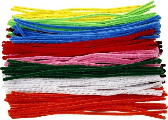 Chenille draad, dikte 6 mm, kleuren assorti, 200 assorti - Creotime
