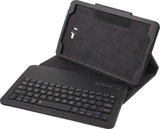 Samsung Galaxy Tab A 10.1 (2016) hoesje Bluetooth Keyboard Case zwart
