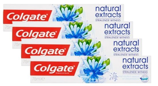 Colgate Natural Extracts Stralende Witheid Tandpasta 4x 75 ml