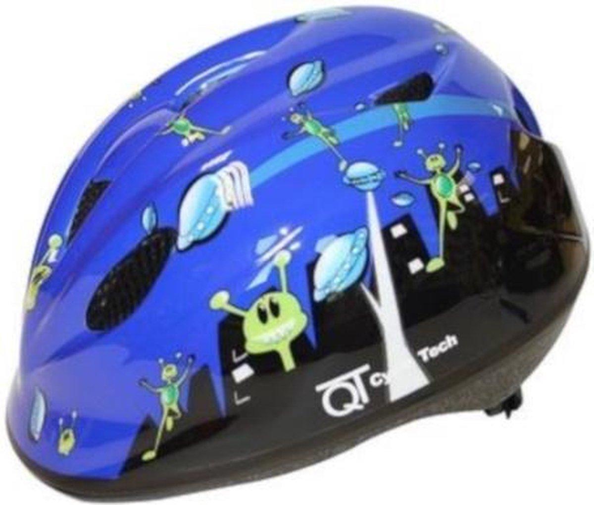 Cycle Tech Helm E.t. Jongens Maat 46/52 Blauw/zwart