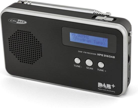 Caliber HPG316DAB/B - DAB+ radio met Fm-ontvangst - Zwart