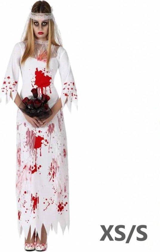 Halloween Kleding Winkel.Bol Com Halloween Kostuum Van Bebloede Bruid Verkleedkleding Xs S