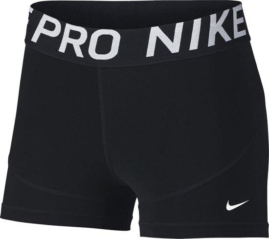 Nike Nk Pro Dames Sportbroek - Black/Black/White - Maat S