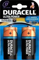 Duracell Ultra alkaline D-batterijen, verpakking van 2