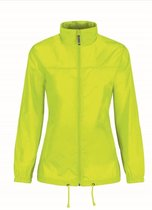 Windjas/regenjas voor dames geel maat S