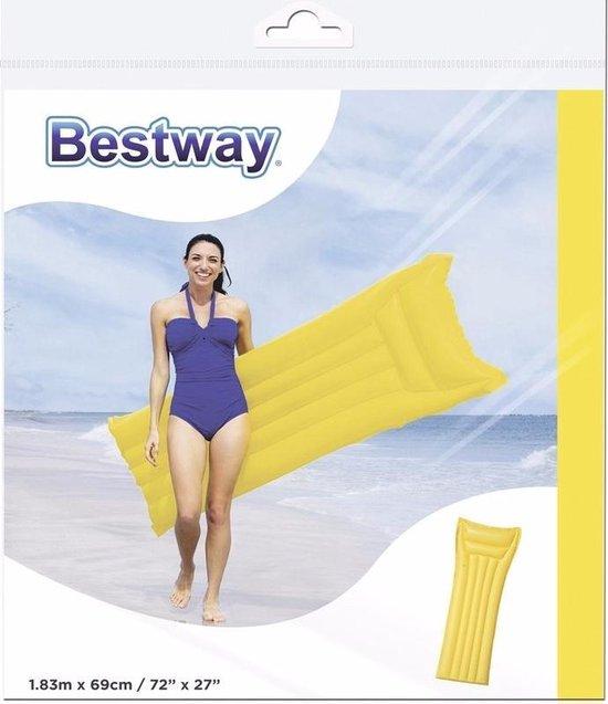 Bestway basic luchtbed geel 183 cm