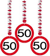 Rotorspiralen 50 jaar verkeersborden 3 stuks