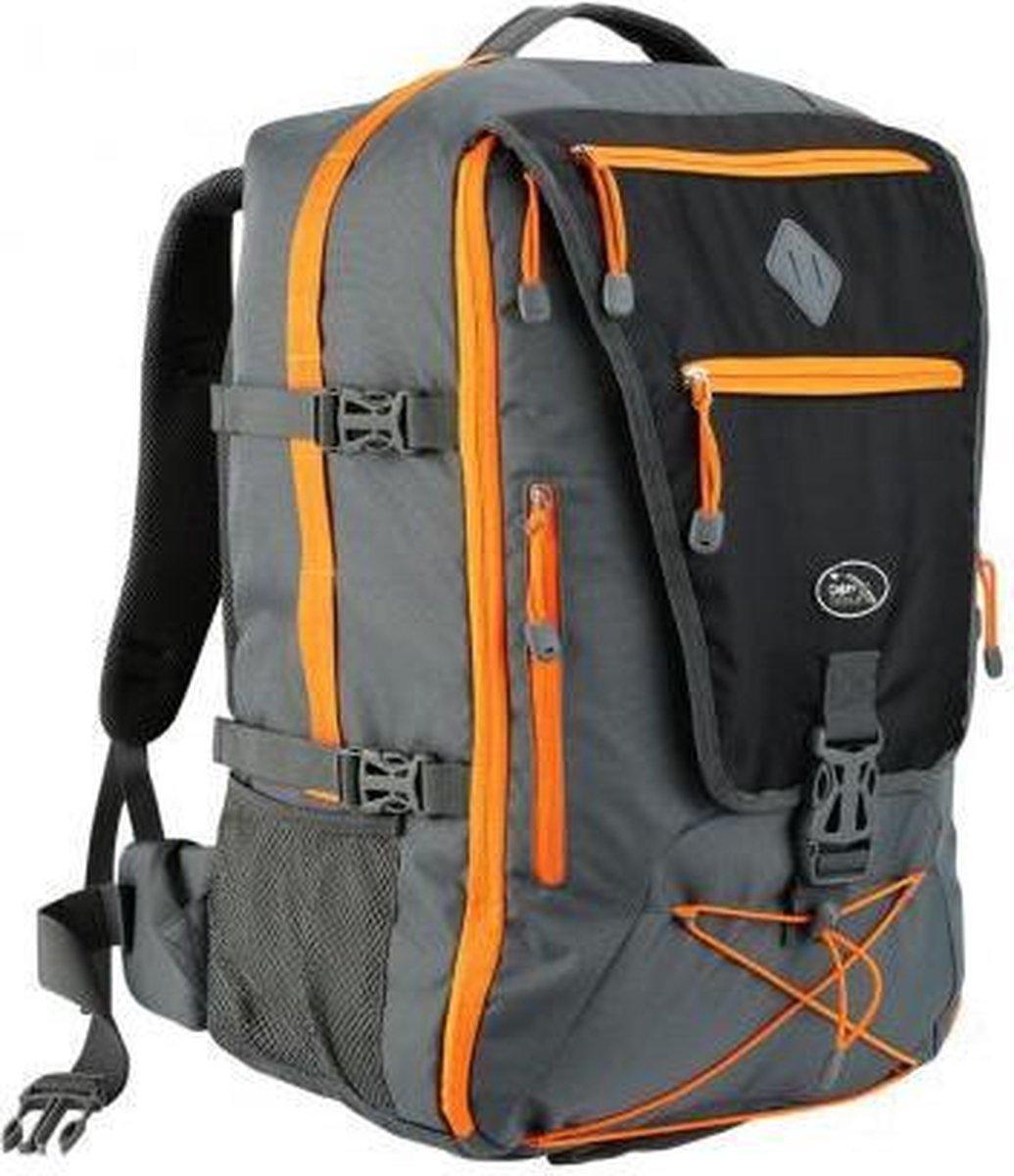 CabinMax Rugzak - Wandelrugzak - Handbagage - 46L Reistas - Rugtas - 54x36x23cm - Grijs (EQ GY/OE)