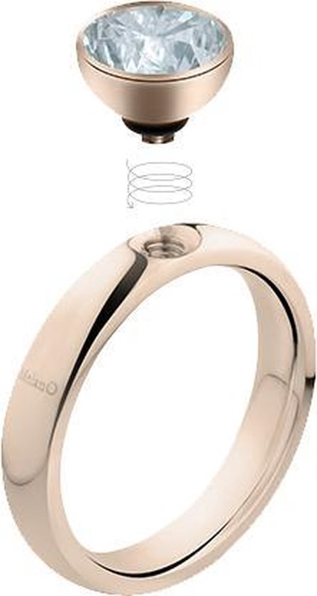 Melano twisted tracy ring - zilverkleurig - dames - maat 50 - Melano