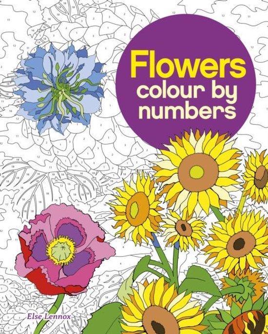 Boek cover Flowers Colour by Numbers van Else Lennox (Paperback)