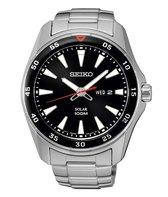 Seiko SNE393P1 horloge heren - zilver - edelstaal