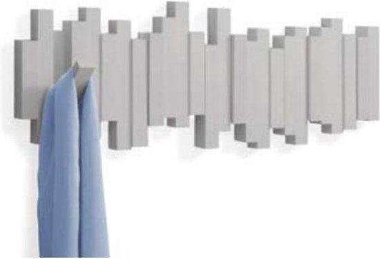 Umbra Kapstok Wandkapstok - Sticks 5 uitklapbare haken - grijs