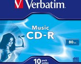 Verbatim, CD-R Audio 80MIN Verbatim Music Life Plus 10 Pack